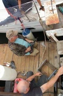 la marina coupe le quai