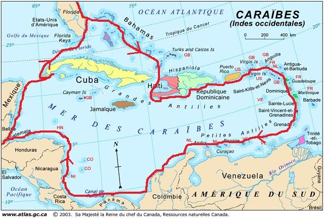 carte-caraibes-itineraire-2013