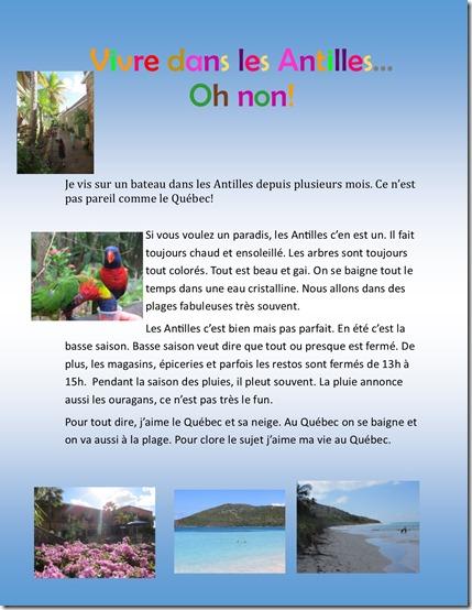 Vivre dans les Antilles  Julien